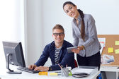 Team working in the office.  — Stock Photo