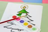 Christmas Colouring — Stock Photo