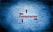 Conspiracies maze concept — Stock Photo
