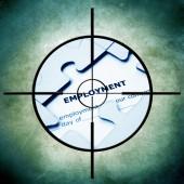 Employment target concept — Zdjęcie stockowe