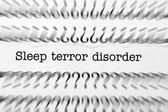 Sleep terror disorder — Stock Photo