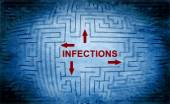 Infections maze concept — Stock Photo