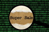 Super sale online — Stock Photo