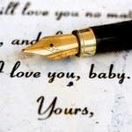 Seni seviyorum bebeğim — Stok fotoğraf #53839471