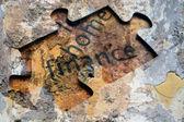 Finance puzzle — Stock Photo