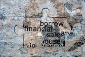 Borrow financial sale — Stock Photo
