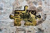 Puzzle sale — Stock Photo