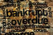 Bankrupt and overdue concept — Stock Photo