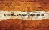 Criminal background check — Stock Photo