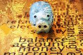 Piggy bank grunge background — Stock Photo