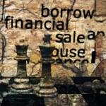 Borrow financial sale chess concept — Stock Photo #54971929