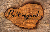 Best Regards grunge concept — Foto Stock
