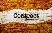 Contract text on grunge background — Stock Photo