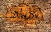 Dear sir text on grunge background — 图库照片