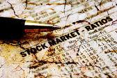 Stock market report — Stock Photo