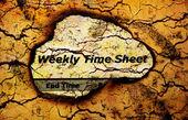 Wochenplan — Stockfoto