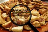 Croissants and nutrition fact — Stock Photo