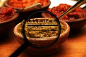 Salsa and nutrition facts — Stock Photo