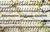 Expressive language disorder — 图库照片