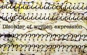 DIsorder of written expression — Stock Photo