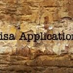 VIsa application — Stock Photo #57089519