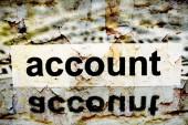 Account grunge concept — Foto de Stock