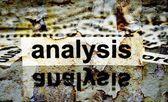 Analysis grunge concept — Stock Photo