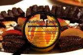 Nutrition facts on sweets — Stockfoto