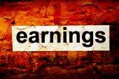 Earnings grunge concept — Stockfoto