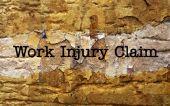Arbeit verletzungen anspruch — Stockfoto