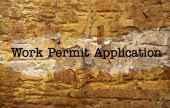 Work permit application — Stock Photo