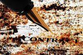 Pluma estilográfica en contrato — Foto de Stock