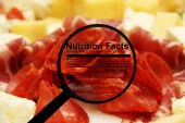 Nutrition facts on meat — Fotografia Stock