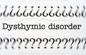 Dysthymic disorder — Stock Photo