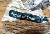 Crinkled loan form — Stock Photo