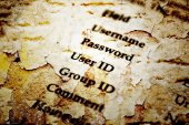 Username and password grunge style — Stock Photo