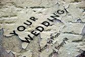 Свадебным гранж — Стоковое фото
