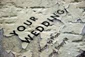 Grunge wedding concept — Stock Photo