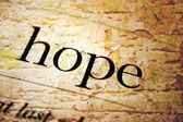 Hope text on grunge background — Foto Stock