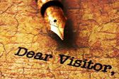 Dear visitor — Stock Photo