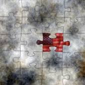 USA puzzle — Stock Photo