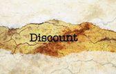 Discount grunge concept — Stock Photo