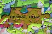 Special offer puzzle concept — 图库照片