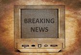 TV breaking news — Stock Photo