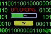 Uploading CV concept — Stock Photo
