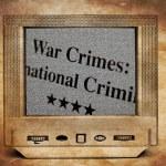 War crimes on TV screen — Stock Photo #67657299