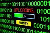 Uploading money — Stock Photo
