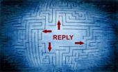 Reply maze concept — Stock Photo