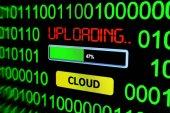 Cloud uploading — Stock Photo