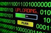 Uploading plan — Stock Photo